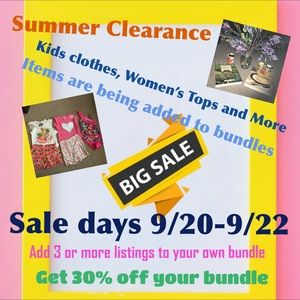 This Weekend!  Friday-Sunday!  30% off bundles 3+
